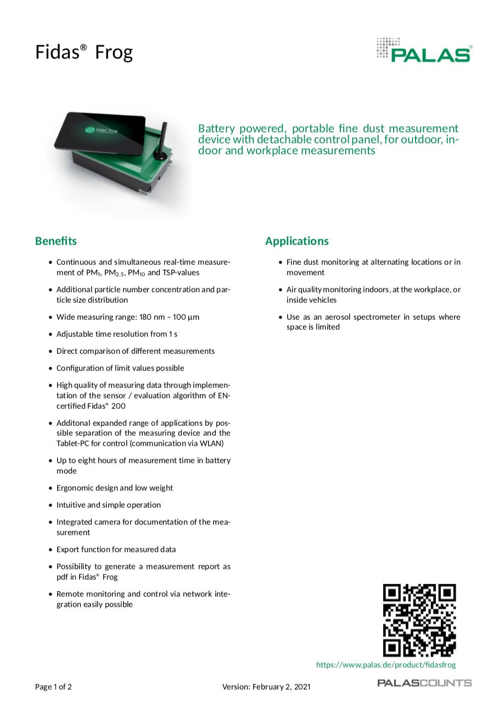 Keystone Instruments Fidas® Frog